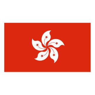 Flagge von Hong Kong-Visitenkarten Visitenkarten