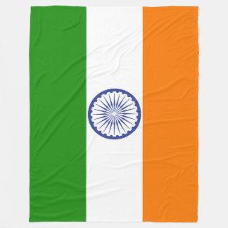 Flagge von Indien Ashoka Chakra Fleecedecke