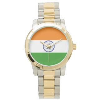 Flagge von Indien Ashoka Chakra Uhr