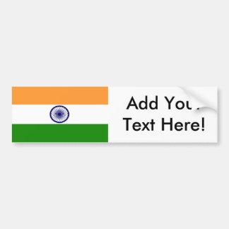 Flagge von Indien Autoaufkleber