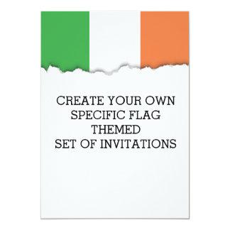 Flagge von Irland Karte