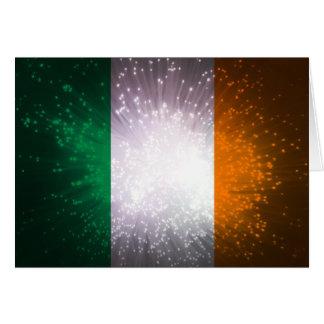 Flagge von Irland Grußkarte
