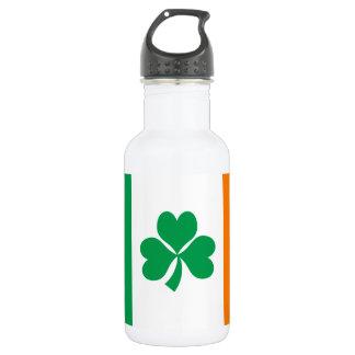 Flagge von Irland-Kleeblatt Edelstahlflasche