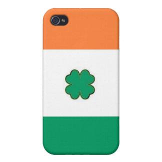 Flagge von Irland-Kleeblatt iPhone 4 Hüllen