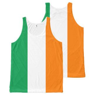 Flagge von Irland Komplett Bedrucktes Tanktop