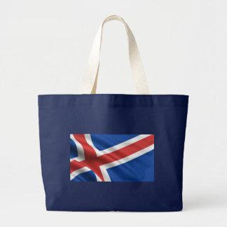 Flagge von Island Jumbo Stoffbeutel