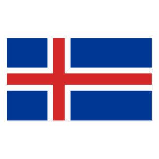 Flagge von Island-Visitenkarten