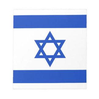 Flagge von Israel - דגלישראל - ישראלדיקעפאן Notizblock