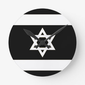 Flagge von Israel - דגלישראל - ישראלדיקעפאן Runde Wanduhr