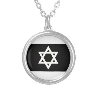 Flagge von Israel - דגלישראל - ישראלדיקעפאן Versilberte Kette