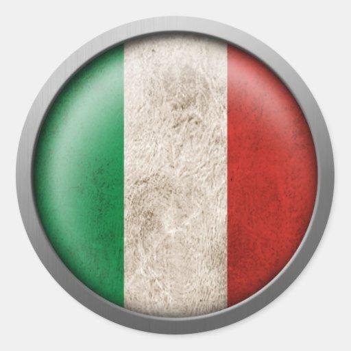 Flagge von Italien-Disc Runder Sticker