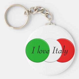 Flagge von Italien. I Liebe Italien. Text Schlüsselanhänger