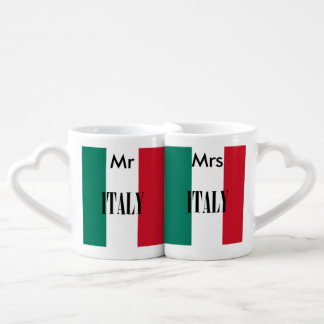 Flagge von Italien Liebestassen