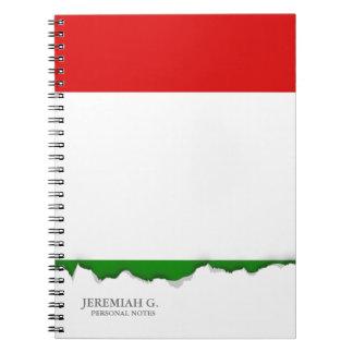 Flagge von Italien Notizblock