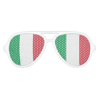 Flagge von Italien, Spaß-Italiener-Flagge Partybrille