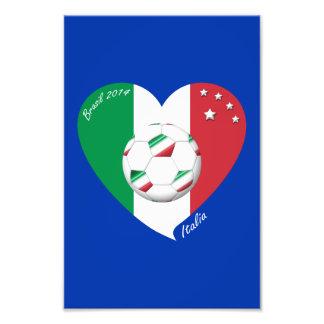 Flagge von ITALIEN weltweiter FUSSBALL Sieger 2014 Photodruck
