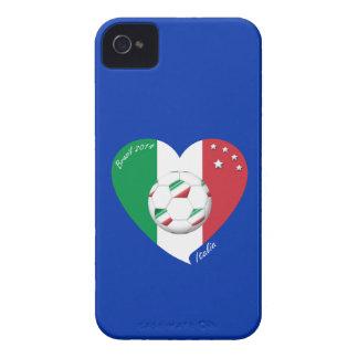 Flagge von ITALIEN weltweiter FUSSBALL Sieger 2014 iPhone 4 Hüllen