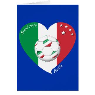 Flagge von ITALIEN weltweiter FUSSBALL Sieger 2014 Grußkarte