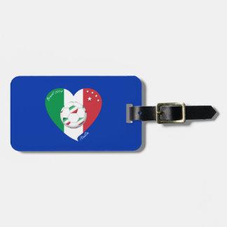 Flagge von ITALIEN weltweiter FUSSBALL Sieger 2014 Gepäck Anhänger