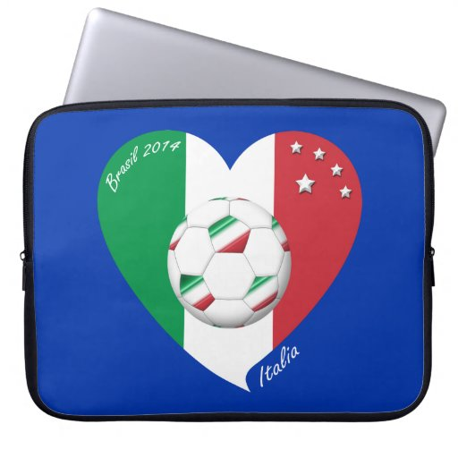 Flagge von ITALIEN weltweiter FUSSBALL Sieger 2014 Computer Sleeve Schutzhüllen