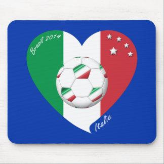 Flagge von ITALIEN weltweiter FUSSBALL Sieger 2014 Mauspads