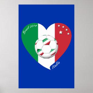 Flagge von ITALIEN weltweiter FUSSBALL Sieger 2014 Plakate