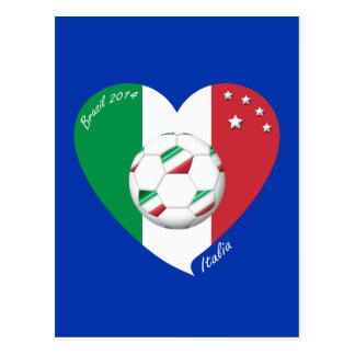 Flagge von ITALIEN weltweiter FUSSBALL Sieger 2014 Postkarten