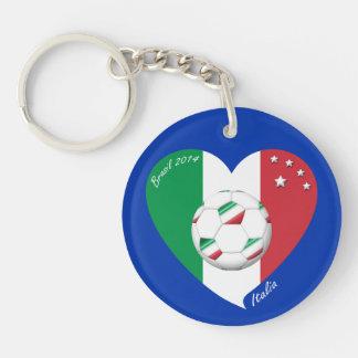 Flagge von ITALIEN weltweiter FUSSBALL Sieger 2014 Schlüsselanhänger