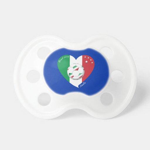 Flagge von ITALIEN weltweiter FUSSBALL Sieger 2014 Baby Schnuller