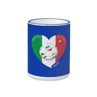 Flagge von ITALIEN weltweiter FUSSBALL Sieger 2014 Tee Tasse