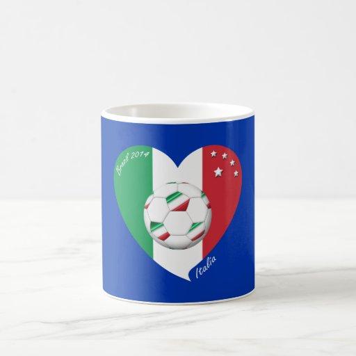 Flagge von ITALIEN weltweiter FUSSBALL Sieger 2014 Tassen