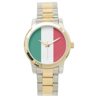 Flagge von Italiener Italiens Italien Uhr