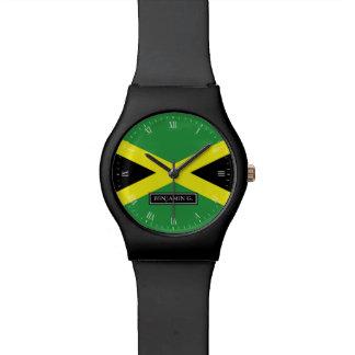Flagge von Jamaika-individuellem Namen Armbanduhr