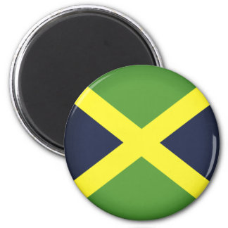 Flagge von Jamaika Runder Magnet 5,7 Cm