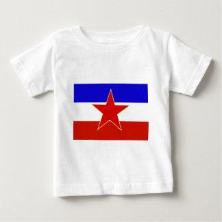 Flagge von Jugoslawien Baby T-shirt