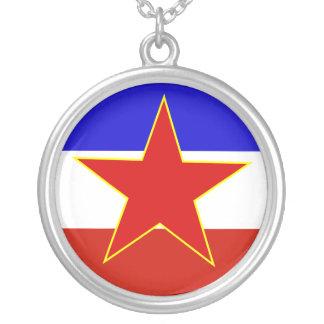 Flagge von Jugoslawien Halskette Mit Rundem Anhänger