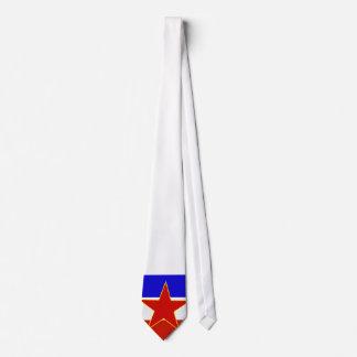 Flagge von Jugoslawien Personalisierte Krawatte