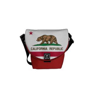 Flagge von Kalifornien, amerikanische Staat Flagge Kurier Tasche