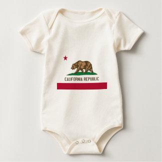 Flagge von Kalifornien Baby Strampler