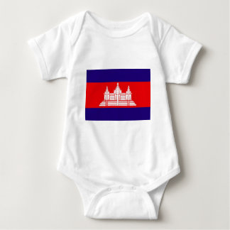Flagge von Kambodscha Baby Strampler