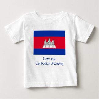Flagge von Kambodscha Baby T-shirt