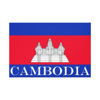 Flagge von Kambodscha Leinwanddruck