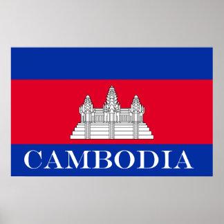 Flagge von Kambodscha Poster