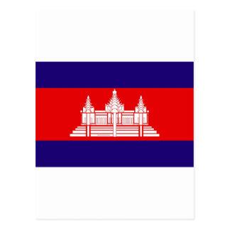 Flagge von Kambodscha Postkarte