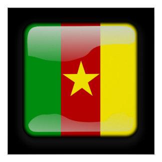 Flagge von Kamerun Poster