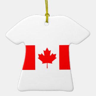 Flagge von Kanada auf Keramik-T-Shirt Verzierung Weihnachtsbaum Ornament