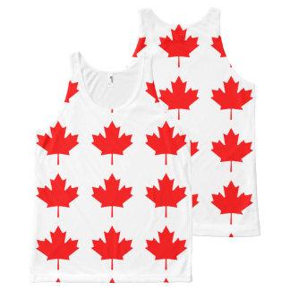 Flagge von Kanada, Drapeau DU Kanada Komplett Bedrucktes Tanktop