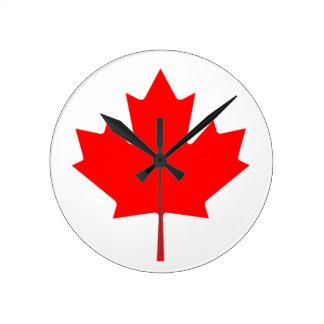 Flagge von Kanada - Drapeau DU Kanada Runde Wanduhr