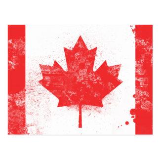 Flagge von Kanada Postkarte