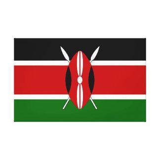 Flagge von Kenia Leinwanddruck
